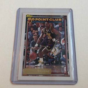 1992-93 Karl Malone Topps Gold Basketball Card